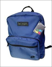 MORRAL BOSSA TORONTO con bolsillo frontal BS1101 azul rosa vinotinto y militar